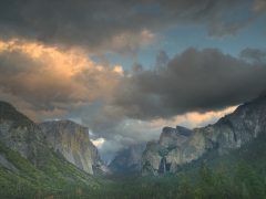 Yosemite Valley and Bridalveil Fall Await an Approaching Storm