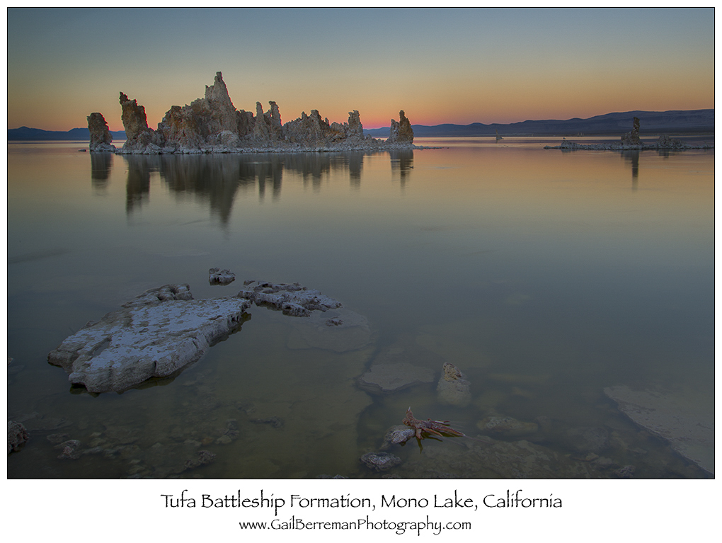 Tufa Battleship Formation, Mono Lake